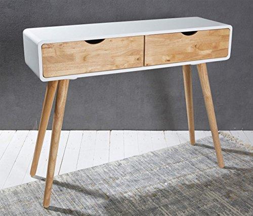 konsolentisch holz weiss natur konsole schminktisch anrichte modern tisch design - Konsolentisch Holz weiß Natur Konsole Schminktisch Anrichte Modern Tisch Design