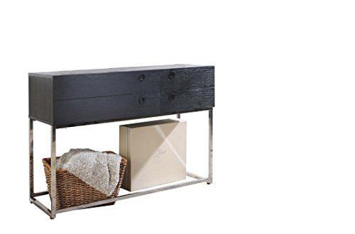 Ottmar G0012325 Konsolentisch aus Holz mit Schubladen Grau 500x330 - Ottmar G0012325 Konsolentisch aus Holz, mit Schubladen, Grau